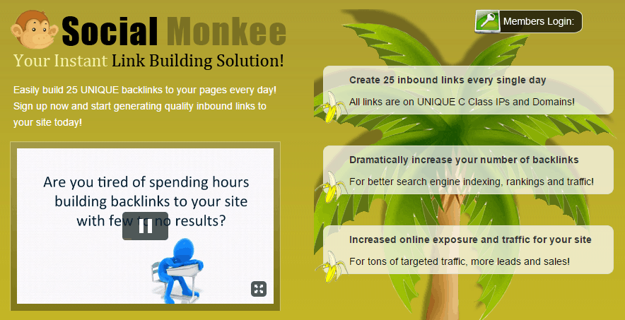 SocialMonkee Review – Bad Value Backlinks