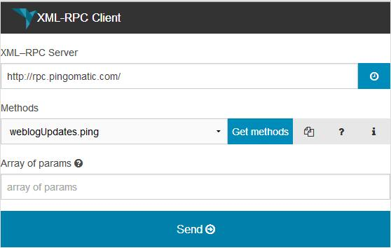xml-rpc-client-chrome-extension