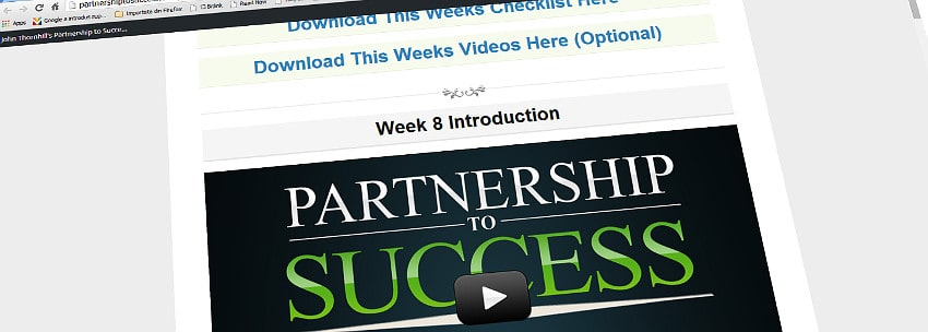 Partnership to Success: Weeks 5 – 8