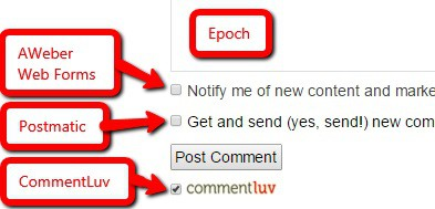 Comment Checkboxes: Postmatic plugin