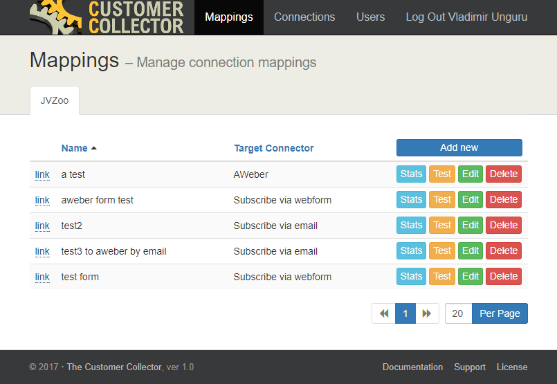 Customer Collection Mapping