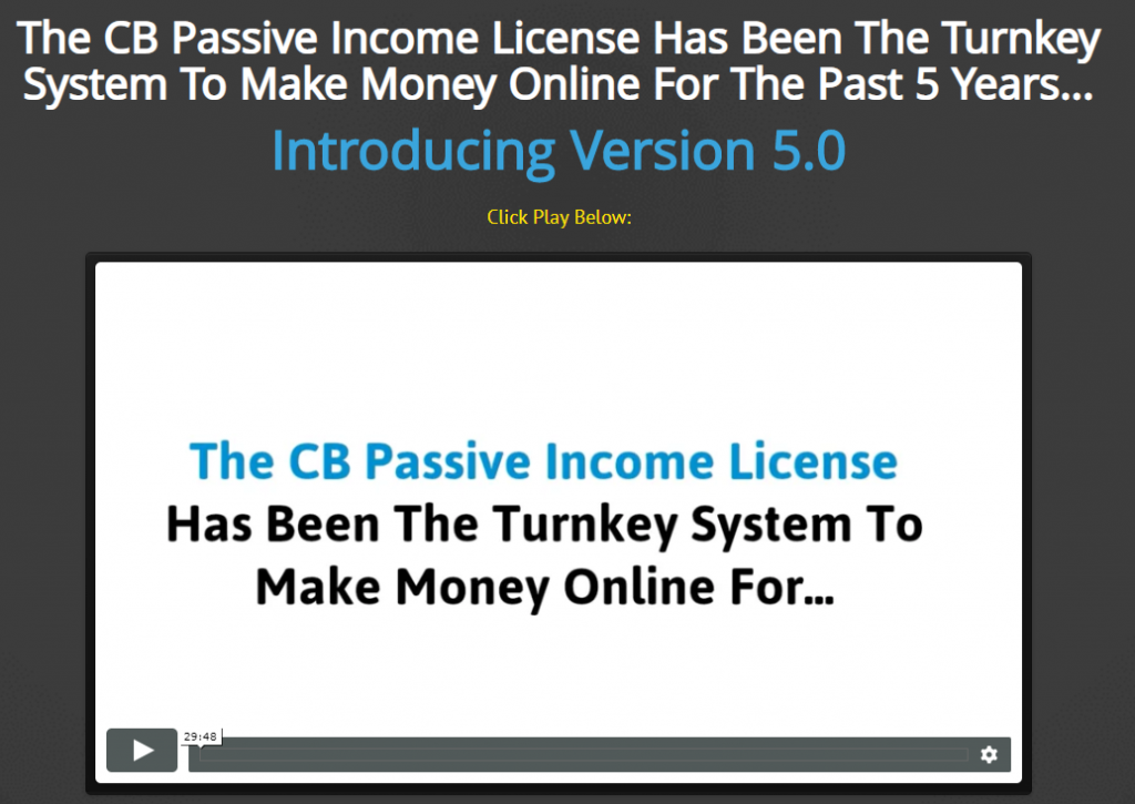 CB Passive Income Review 2019 – A Fully Functional Free Version Included
